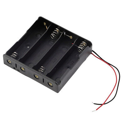 1 pcs Black Plastic Battery Holder Case with Wire for 4 x 18650 14.8V 150mm
