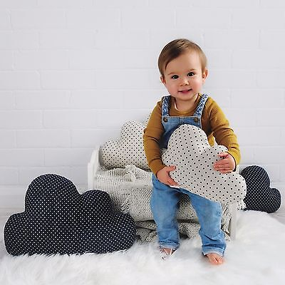 Small Navy Cloud Cushion - Kids Room - Baby Nursery - Kids Home Decor - Cute