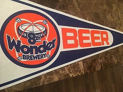 8th Wonder Brewery Houston Texas Beer Pennant Sign Banner Astros Bar Pub