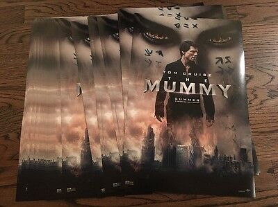 The Mummy 2017 ORIGINAL 11x17 Movie Poster Lot X 35 Tom Cruise Boutella Crowe