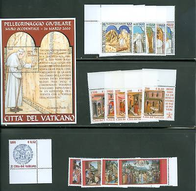 Vatican City 2001 MNH Stamp Year Set Complete