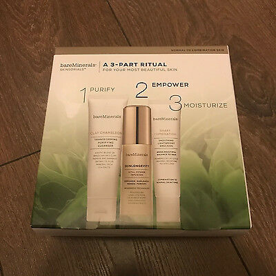 Bare Minerals A 3-Part Ritual SKINSORIALS Skin Care Set BRAND NEW PERFECT GIFT
