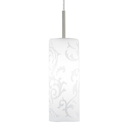 NEW Eglo Amadora Frosted White Floral Pattern Pendant Light - 90047