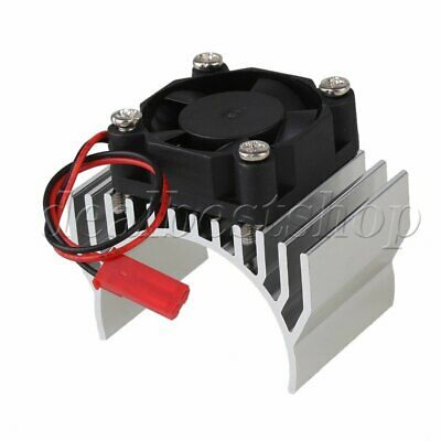 Silver N10189 Alloy Heat Sink With Fan Cooling For 550/540 1:10 RC Car Motor
