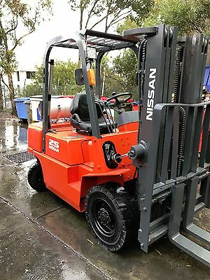 Nissan Forklift 2.5Ton 4.3m Lift Container Mast $9499+GST Negotiable Refurbished