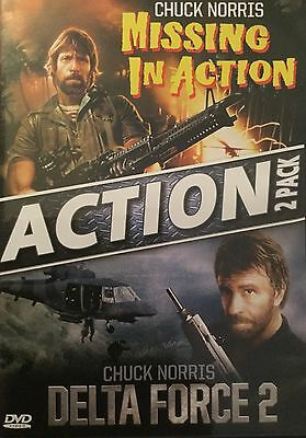 MISSING IN ACTION & DELTA FORCE 2 Movie DVD - Chuck Norris DVD Action Combo