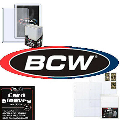 BCW Trading Card Hard Plastic Topload Holders and Penny Sleeves