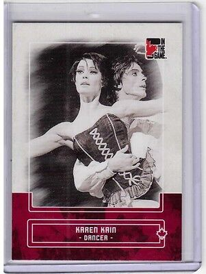 KAREN KAIN 10/11 ITG Canadiana Red Base Card #51 Dancer Ballet Rudolf Nureyev
