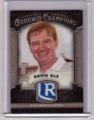 ERNIE ELS 2014 Upper Deck Goodwin Champions #d 50/50 Tournament Worn Shirt Patch