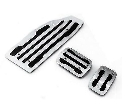 Aluminum Alloy+Rubber  Car Pedals Footrests & Plates Fit for 2016 Peugeot  308