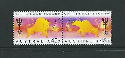 1997 CHRISTMAS ISLAND Chinese New Year of the Ox Set MNH (SG 434a)