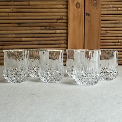 SET of 6X Vintage 'CRISTAL D'ARQUES' Longchamp CRYSTAL Shot SCHNAPPS Glasses