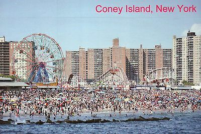 Coney Island Beach & Amusement Parks from Pier Brooklyn New York City - Postcard