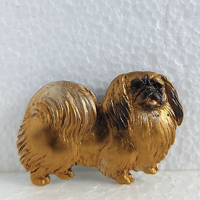 Pekingese Fawn Red Resin Brooch Dog Breed Jewellery Handpainted Handcrafted