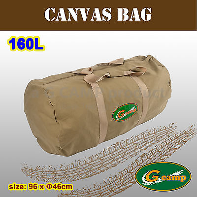 G Camp Canvas Bag Carry Travel Tent Peg Guy Rope Camping 4X4 Trailer Stove 160L