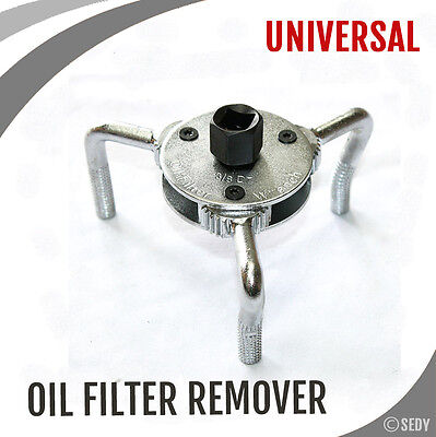 UNIVERSAL OIL FILTER REMOVER SPANNER WRENCH THREE LEG FOR CARS TRUCk 65mm-110mm