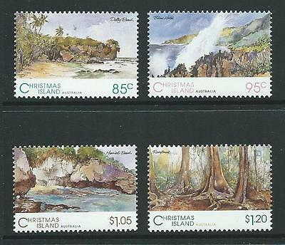 1993 CHRISTMAS ISLAND Scenic Views Set MNH (SG 378-381)