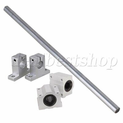 /& Ball Slide Rail OD12 x 500mm Support with Bearing Shaft Optical Axis