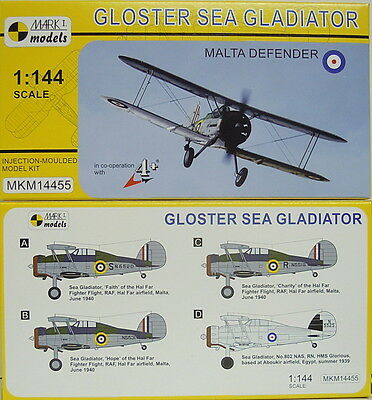 Gloster Sea Gladiator ,Malta Defender, Mark 1, 1:144, NEUHEIT!