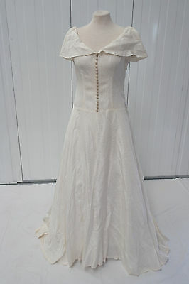 "40's/50's Vintage Wedding dress ~ 34"" Bust, 32"" waist, Size 10 ~ Fair condition"