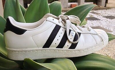 Unisex Adidas Superstar Leather Classic Original Sports Sneakers Shoes Sz 8