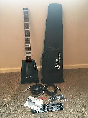 Black Steinberger Spirit Electric Guitar With Peavey AMP, Tuner And Accessories