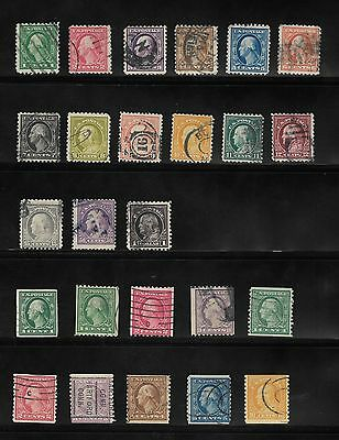 1916 United States Stamp 1C To $1 + Imperf + Horizontal & Vertical Coil Used #g