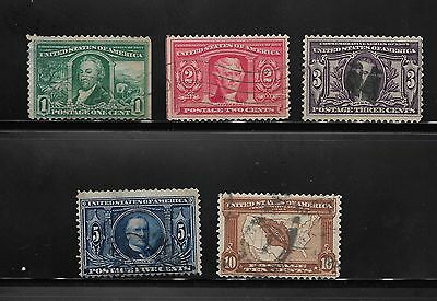 1904 United States Stamps Used St. Louisiana Purchase Exposition