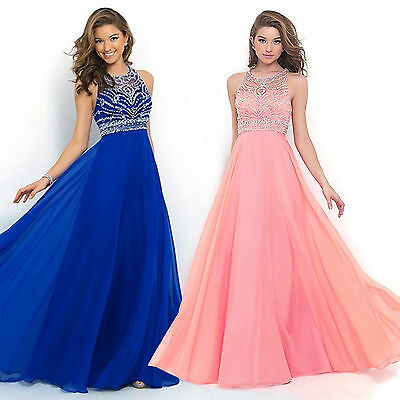 Women Formal Gown Chiffon Dress Prom Evening Party Cocktail Bridesmaid Wedding