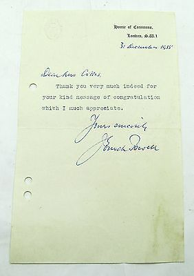 Vintage Letter Parliamentary Secretary Ministry Of Housing 1955 Enoch Powell