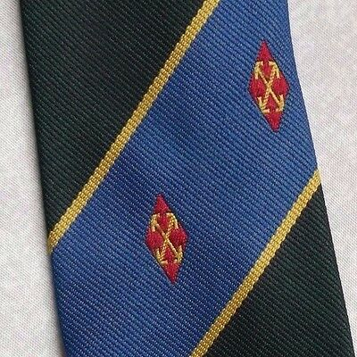 VINTAGE CRESTED CLUB TIE EMBLEM 1980s 1990s BY TOYE KENNING & SPENCER BLUE GREEN