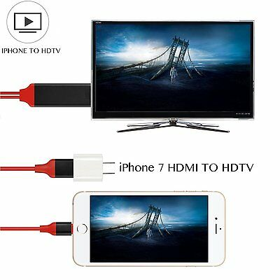 2M 1080P Connect iPhone to TV Cable HDMI AV Adaptor for iPhone 6 6S 7 Plus