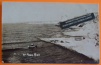 LONDON STUDIO RP Postcard c.1910 VIEW OF ST.PAUL BAY MALTA