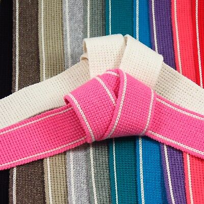 Cotton mix woven webbing tape 34mm :: straps :: belting :: bag making (W003)