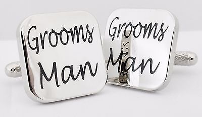 Wholesale Job Lot 21x Pairs Silver Square Groomsman Cufflinks wedding gift