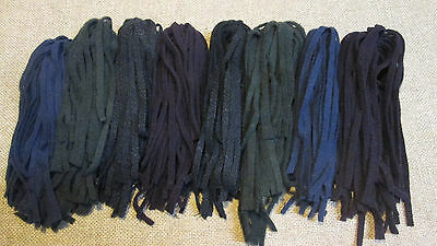 200 Wool Strips for Primitive Rug Hooking size #6 Dark and Stormy