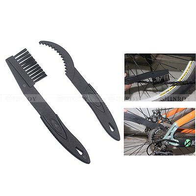 2Pcs/set Cycling Bike Bicycle Chain Cleaning Brush Flywheel clean Tool