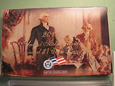2010 United States Mint-Presidential &1 coin Proof Set / with box & COA