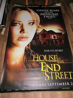 HOUSE AT THE END OF THE STREET (Jennifer Lawrence) cinema vinyl banner 8' x 5'