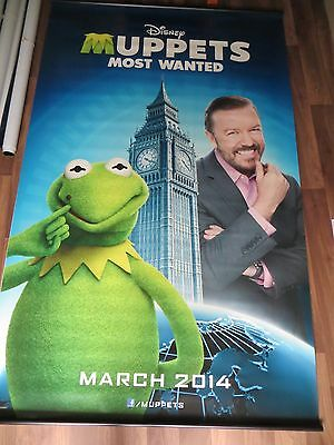 THE MUPPETS MOST WANTED cinema vinyl banner 8' x 5'