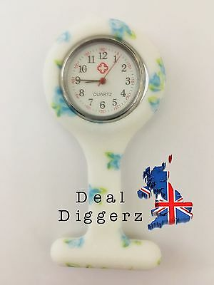 Nurse Watch Silicone Patterned Nurse Brooch Tunic Fob Watch With Free Battery #2