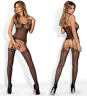 OBSESSIVE N110 Luxury Super Soft Patterned Fishnet Bodystocking