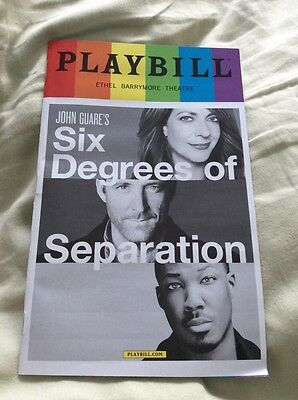 Six Degrees Of Separation Playbill Broadway Nyc June 2017 Pride Edition