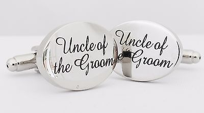 Wholesale Job Lot 50x Pairs Silver OVAL Uncle of the Groom Cufflinks