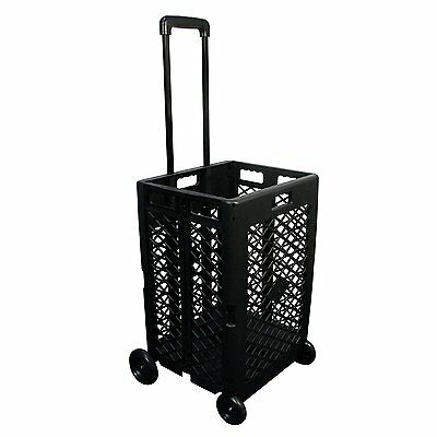 Portable Rolling Shopping Cart Basket Storage Folding Wheel Utility Grocery US
