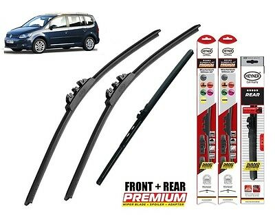 "VW Touran 2010-2015 full set quality windscreen wiper blades 24""18""12"""