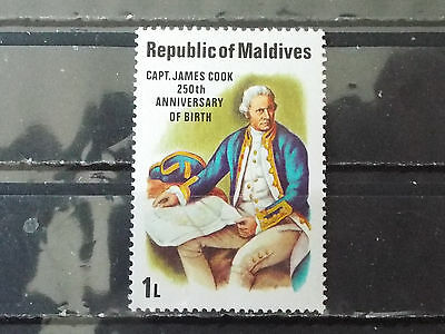 Timbre neuf Maldives : Capitaine James COOK