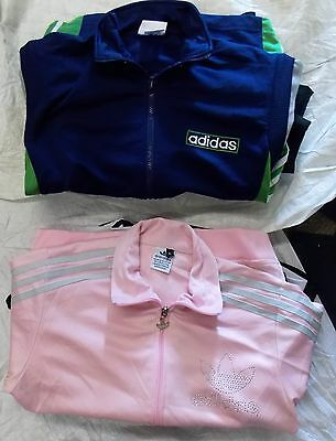 JOB LOT GRADE A X 7 Women's ADIDAS 3 STRIPES TRACK TOP JACKETS