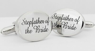 Wholesale Job Lot 24x Pairs Silver OVAL Stepfather of the Bride Cufflinks