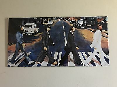the beatles abbey road painted effect poster (cardboard)